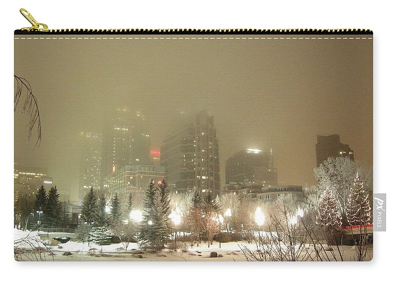 City Carry-all Pouch featuring the photograph Calgary Alberta 2 by Leanne Karlstrom
