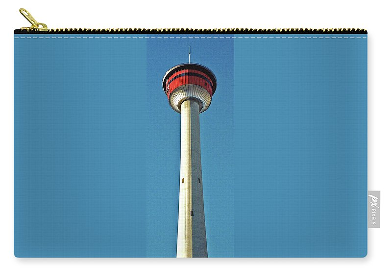 North America Carry-all Pouch featuring the photograph Calgary Tower by Juergen Weiss