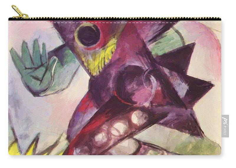 Caliban Carry-all Pouch featuring the painting Caliban From Shakespeare The Tempest 1914 by Marc Franz