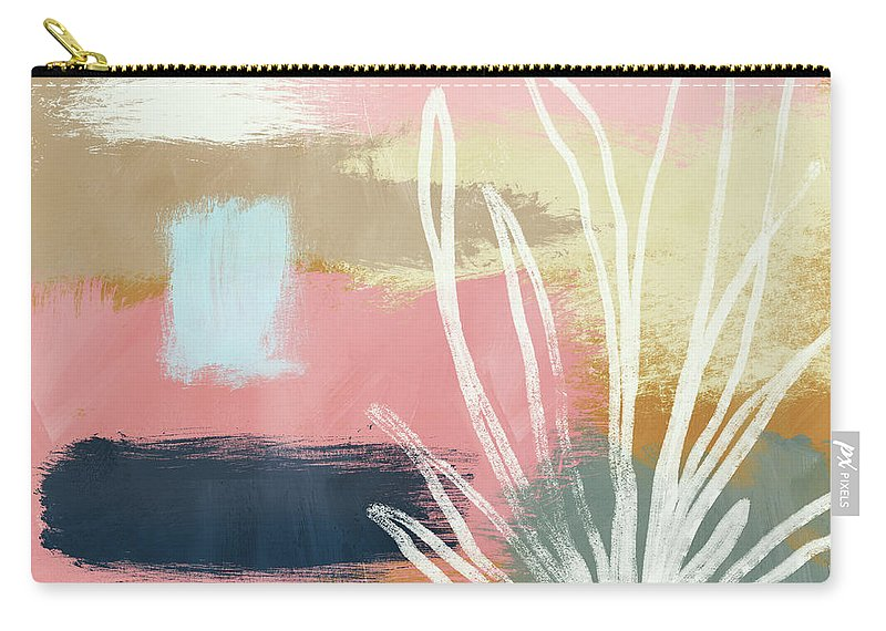 Abstract Carry-all Pouch featuring the mixed media California Abstract- Art By Linda Woods by Linda Woods