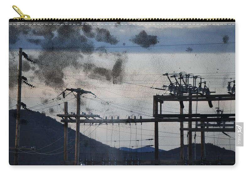 California Carry-all Pouch featuring the photograph California Cascade Power Lines by Kyle Hanson