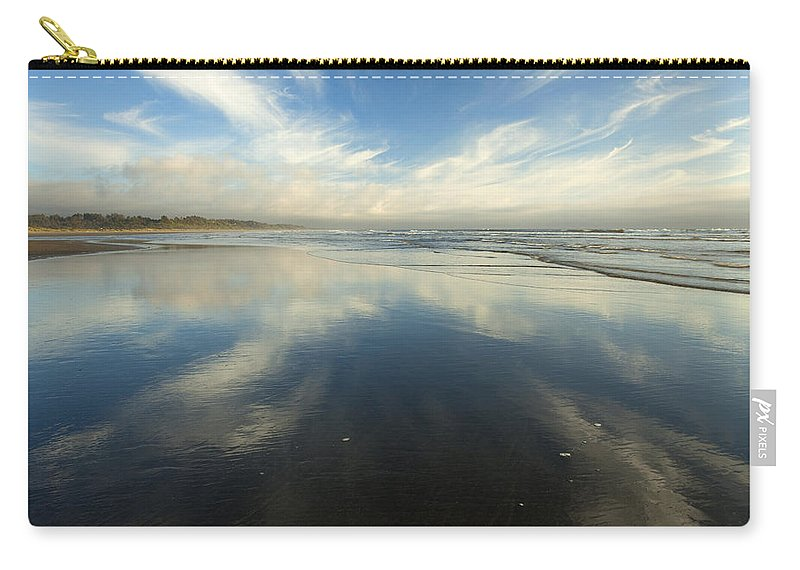 Cirrus Carry-all Pouch featuring the photograph California Cirrus Explosion by Mike Dawson