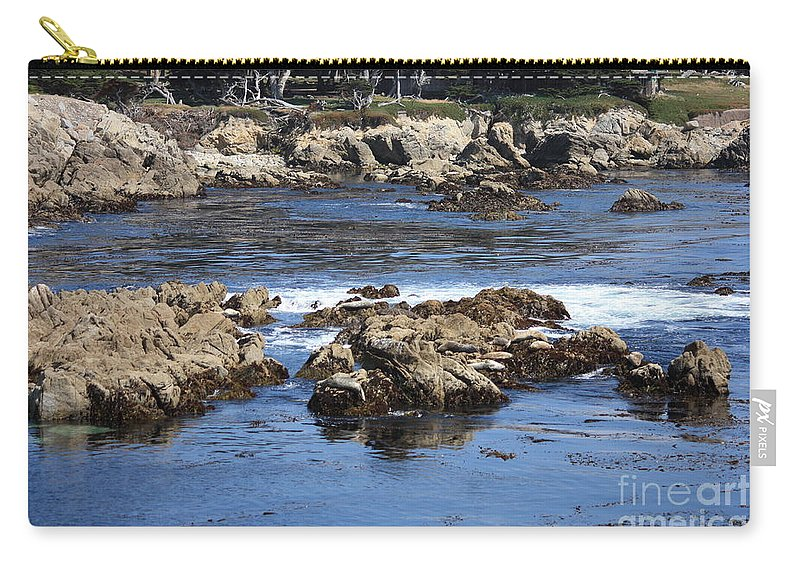 California Seaside Carry-all Pouch featuring the photograph California Coast by Carol Groenen