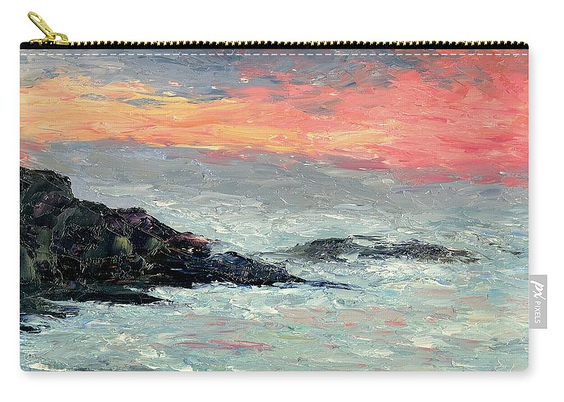 Seascape Carry-all Pouch featuring the painting California Coast by Gail Kirtz