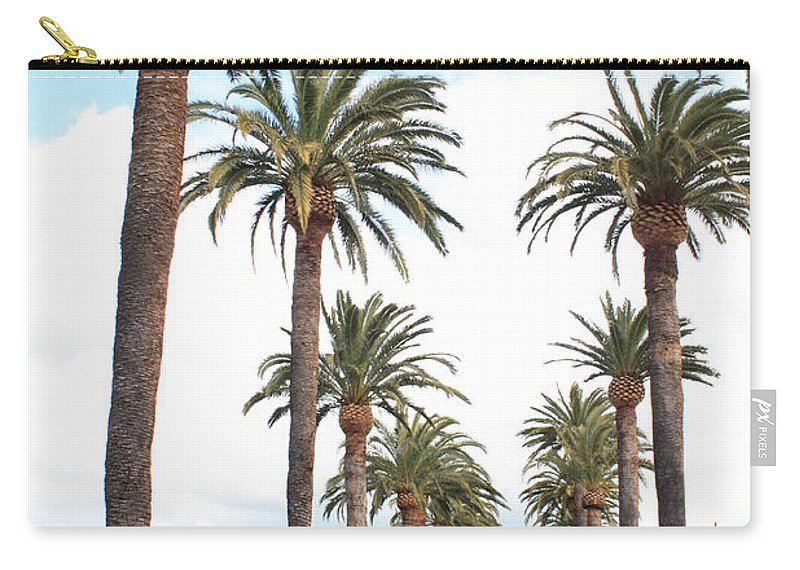 Palm Trees Carry-all Pouch featuring the photograph California Dreaming by Carol Groenen