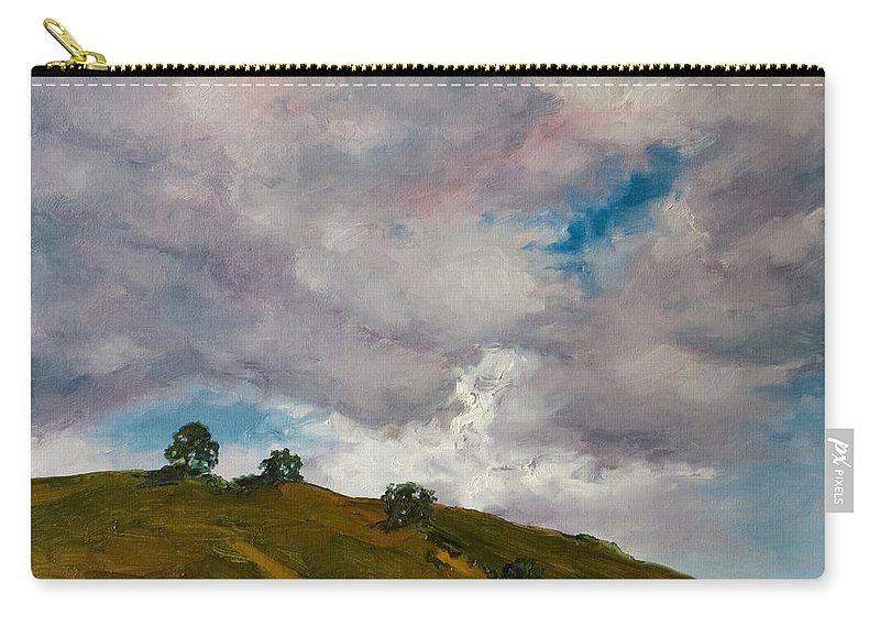 Sky Carry-all Pouch featuring the painting California Hills by Rick Nederlof
