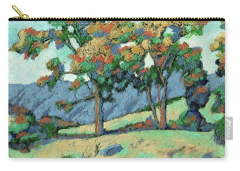 California Carry-all Pouch featuring the painting California Landscape by Richard Votch