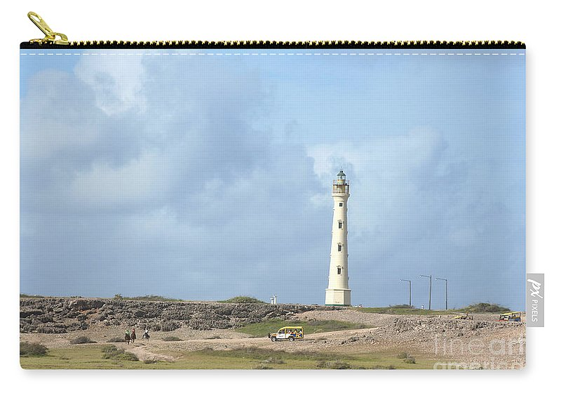 Aruba Carry-all Pouch featuring the photograph California Lighthouse by Thomas Marchessault