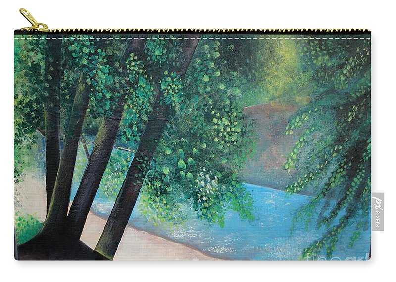 Landscape Carry-all Pouch featuring the painting California Magic by Helena Tiainen