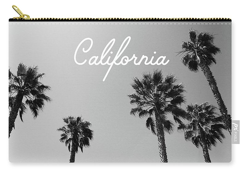 California Carry-all Pouch featuring the mixed media California Palm Trees By Linda Woods by Linda Woods