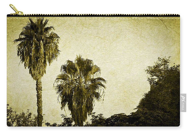 California Carry-all Pouch featuring the photograph California Palms by Teresa Mucha