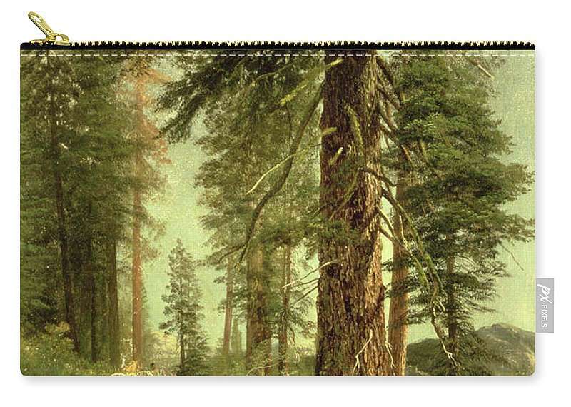California Carry-all Pouch featuring the painting California Redwoods by Albert Bierstadt