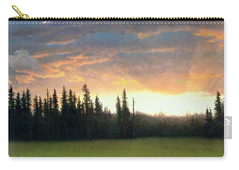 Californian Carry-all Pouch featuring the painting California Sunset by Albert Bierstadt