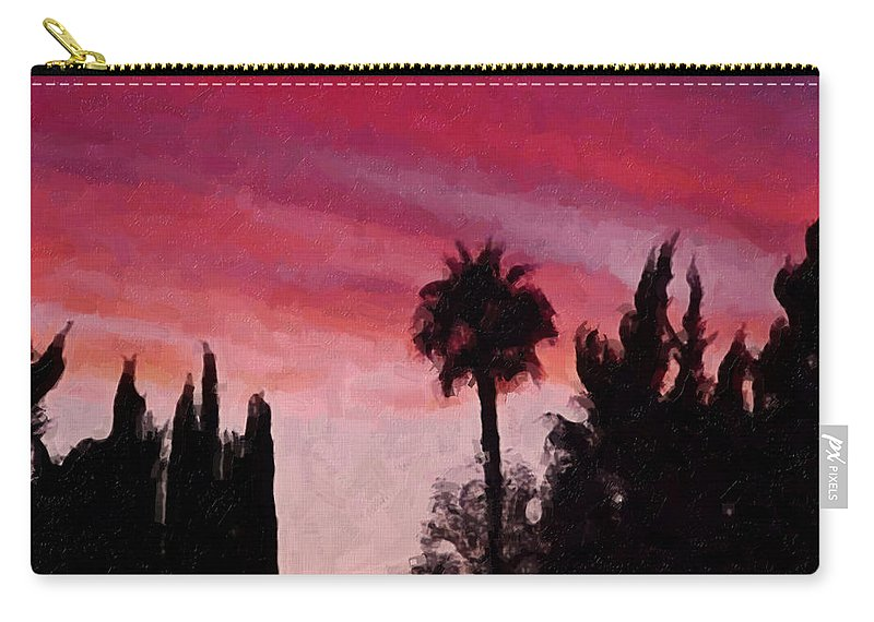 California Carry-all Pouch featuring the painting California Sunset Painting 1 by Teresa Mucha