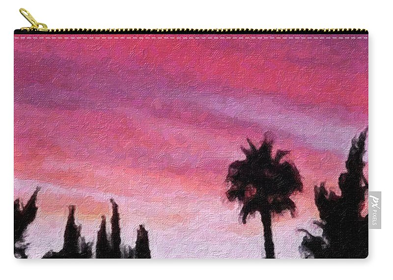 California Carry-all Pouch featuring the painting California Sunset Painting 2 by Teresa Mucha