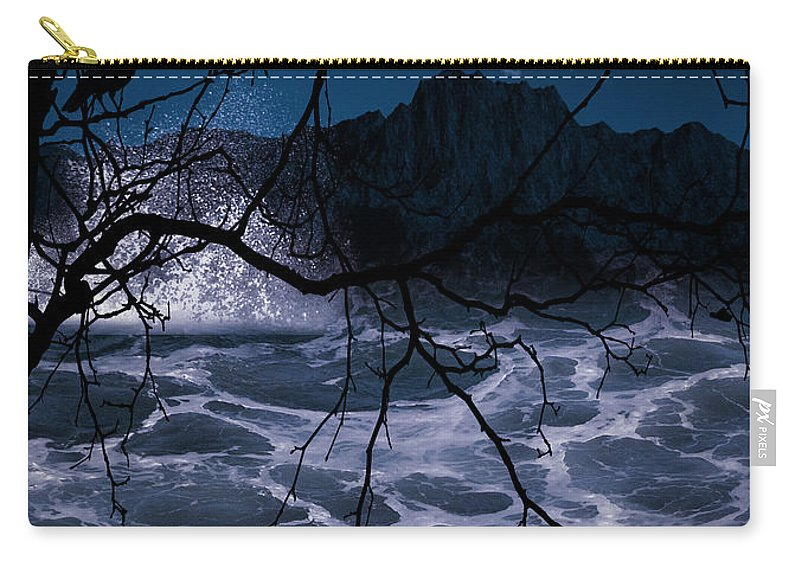 Raven Carry-all Pouch featuring the photograph Caliginosity by Lourry Legarde