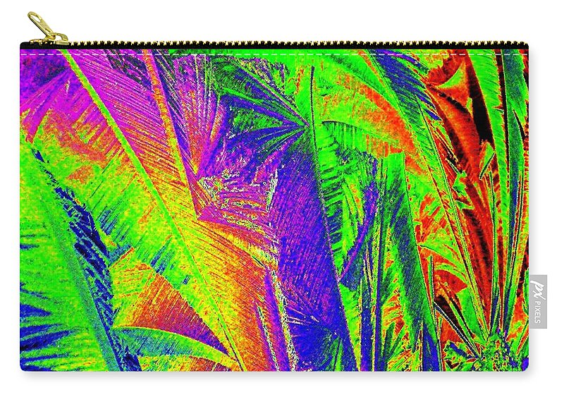 Abstract Carry-all Pouch featuring the digital art Call Of The Jungle by Will Borden