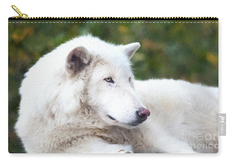 Call Of The Wild Carry-all Pouch featuring the photograph Call Of The Wild by David Millenheft