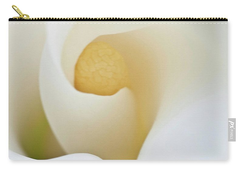 Calla Carry-all Pouch featuring the photograph Calla Details 3 by Heiko Koehrer-Wagner