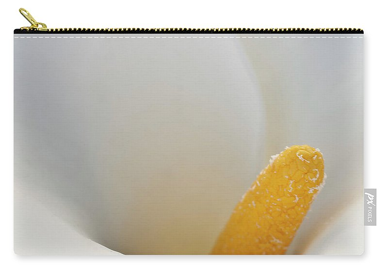 Calla Carry-all Pouch featuring the photograph Calla Details 5 by Heiko Koehrer-Wagner
