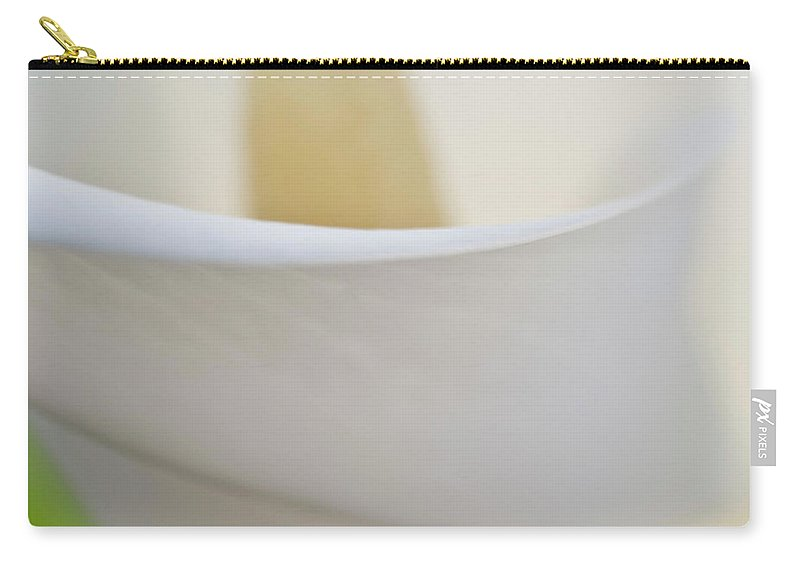 Abstract Carry-all Pouch featuring the photograph Calla Details 7 by Heiko Koehrer-Wagner