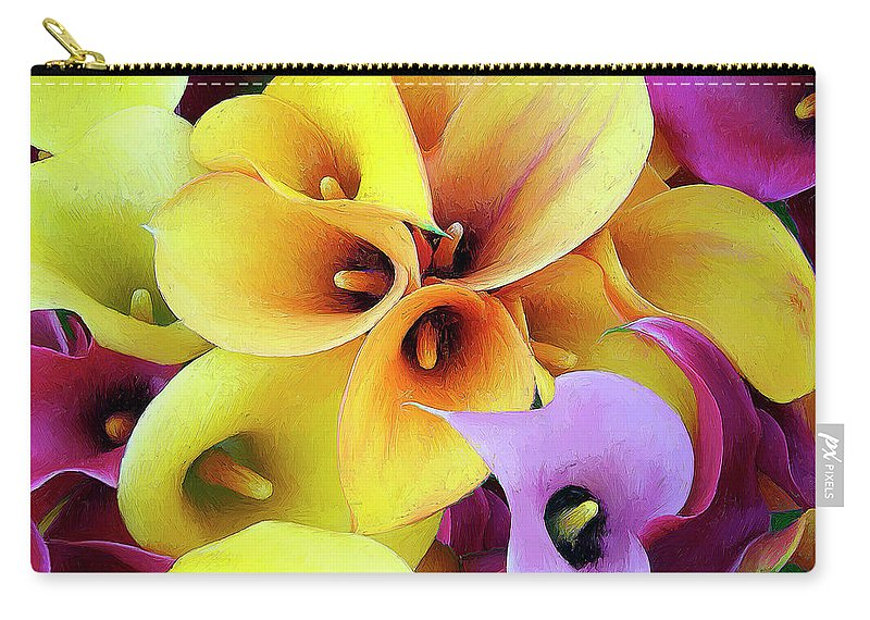 Flowers Carry-all Pouch featuring the painting Calla Lilies by Dominic Piperata