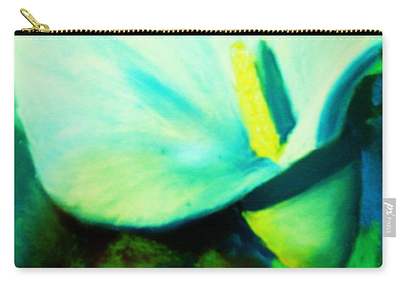 White Calla Lily Carry-all Pouch featuring the painting Calla Lily by Melinda Etzold