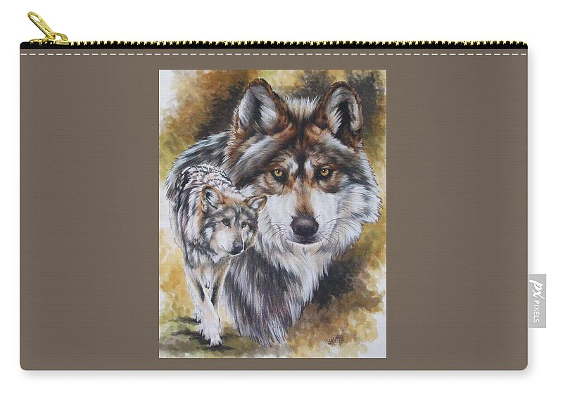 Wildlife Carry-all Pouch featuring the mixed media Callidity by Barbara Keith