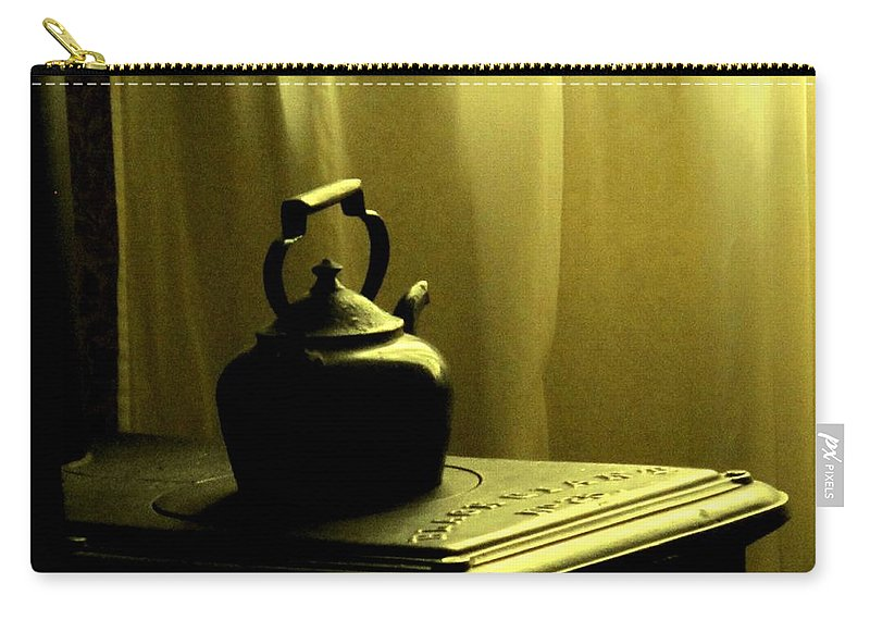Kettle Carry-all Pouch featuring the photograph Calling The Kettle Black by Ian MacDonald