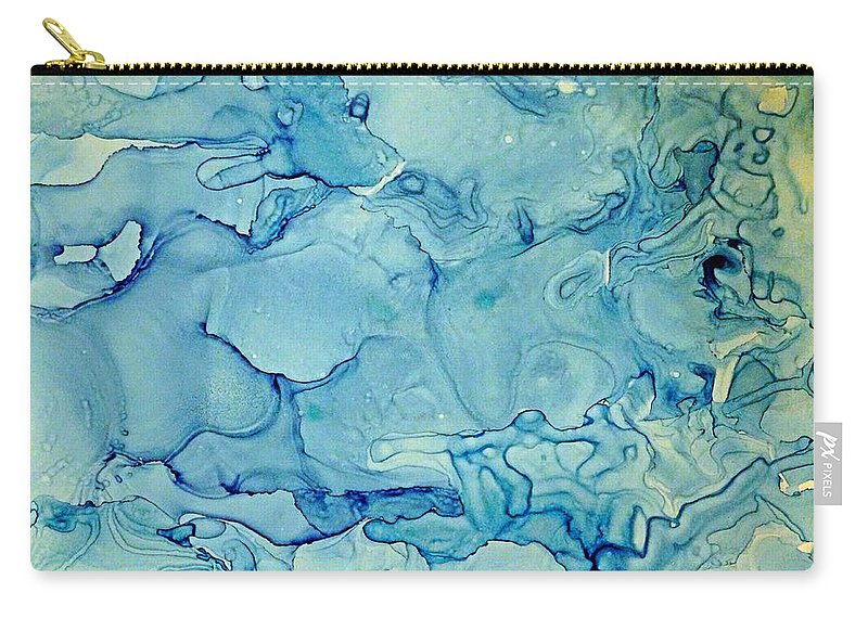 Living Room Art Carry-all Pouch featuring the painting calm before the Storm 3 by Frank V Foster Jr