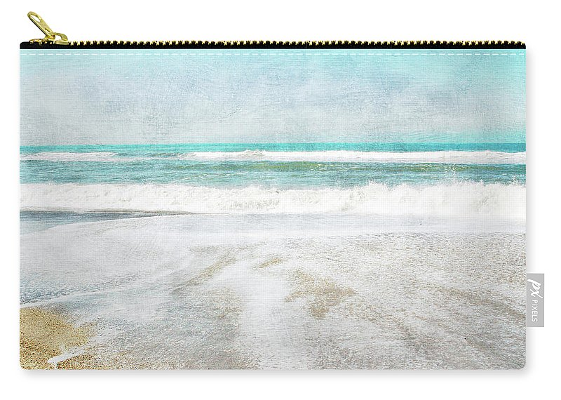 Coast Carry-all Pouch featuring the mixed media Calm Coast- Art By Linda Woods by Linda Woods