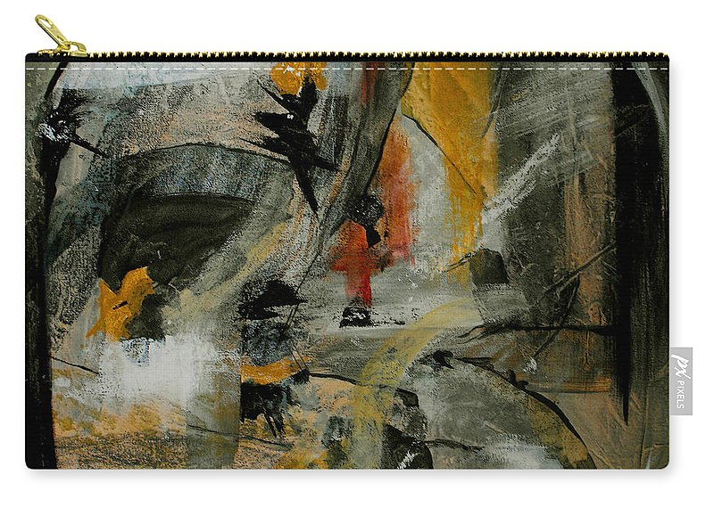 Abstract Carry-all Pouch featuring the painting Calm Out Of Chaos by Ruth Palmer