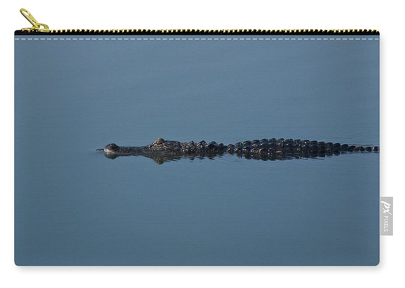 Alligator Carry-all Pouch featuring the photograph Calm Water Cruise by Steven Sparks