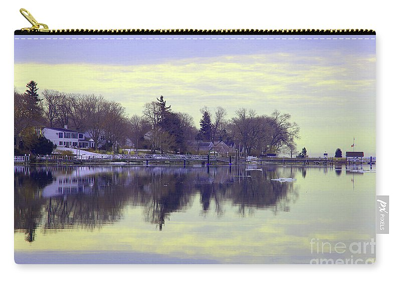Coastal Carry-all Pouch featuring the photograph Calming Lavendar Scene by Karol Livote