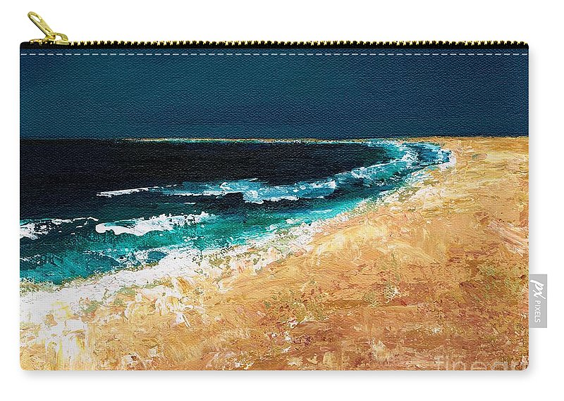 Ocean Tide Carry-all Pouch featuring the painting Calming Waters by Frances Marino