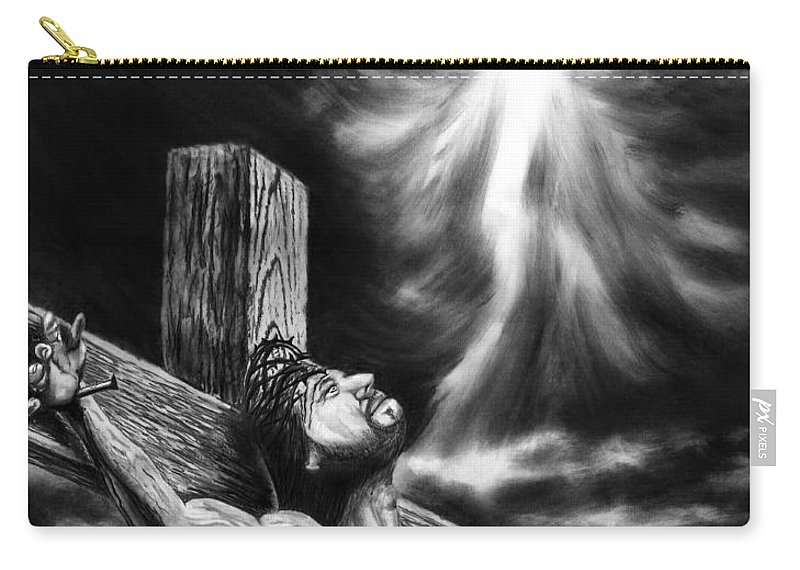 Calvary Carry-all Pouch featuring the drawing Calvary by Peter Piatt