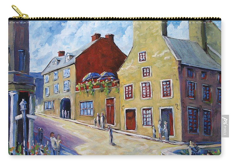 Rural Carry-all Pouch featuring the painting Calvet House Old Montreal by Richard T Pranke