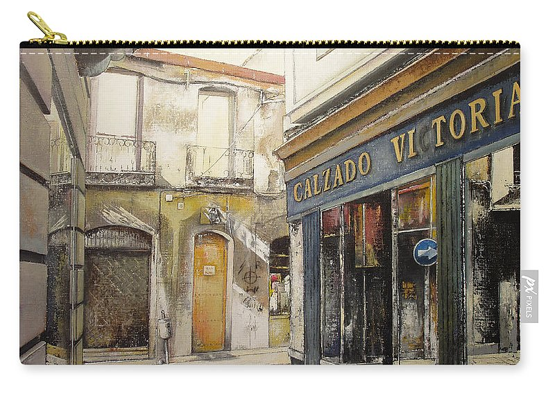 Calzados Carry-all Pouch featuring the painting Calzados Victoria-leon by Tomas Castano