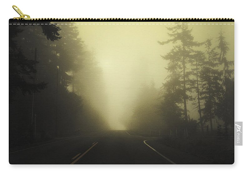 Fog Carry-all Pouch featuring the photograph Camano Island Fog by Tim Nyberg