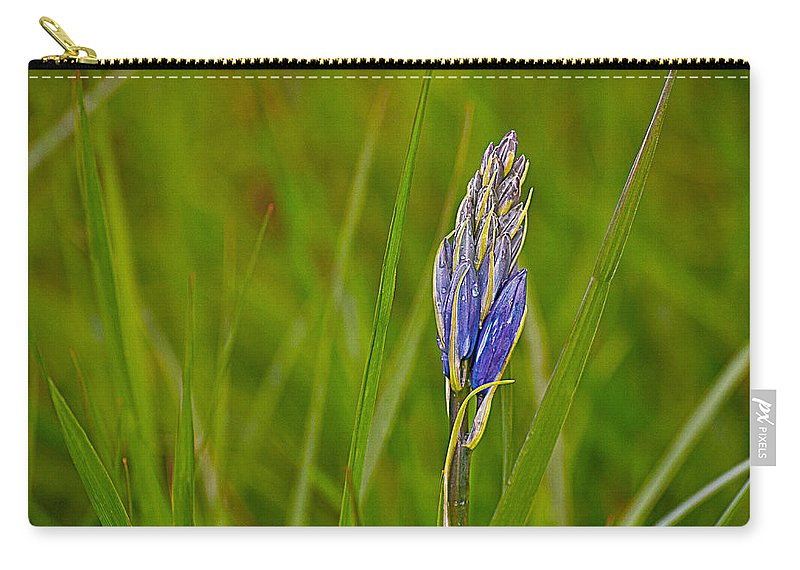 Camas Carry-all Pouch featuring the photograph Camas Flower Pod by Emerald Studio Photography