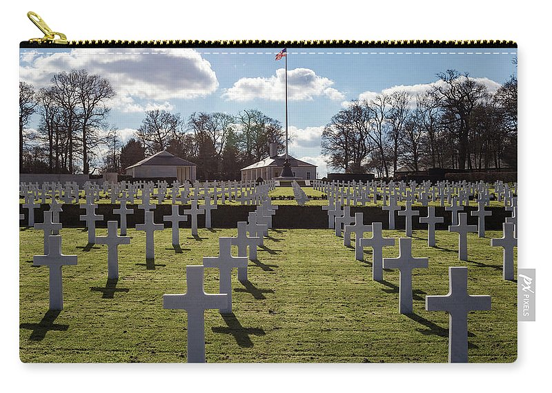 Cemetery Carry-all Pouch featuring the photograph Cambridge American Cemetery by Ashlyn Gehrett