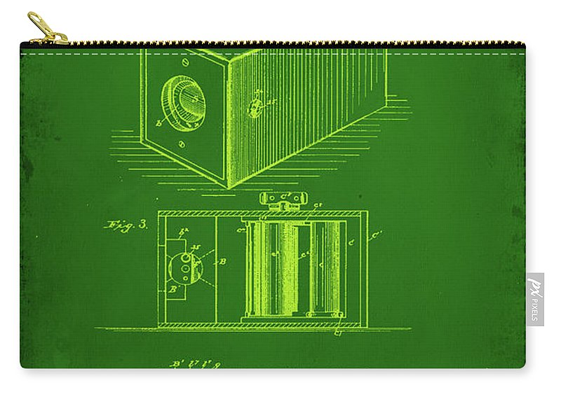 Patent Carry-all Pouch featuring the mixed media Camera Patent Drawing 1g by Brian Reaves