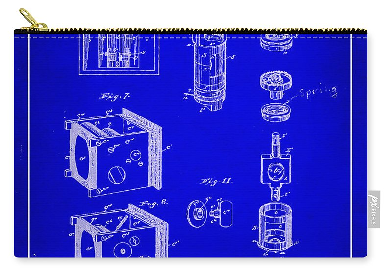 Patent Carry-all Pouch featuring the mixed media Camera Patent Drawing 2h by Brian Reaves