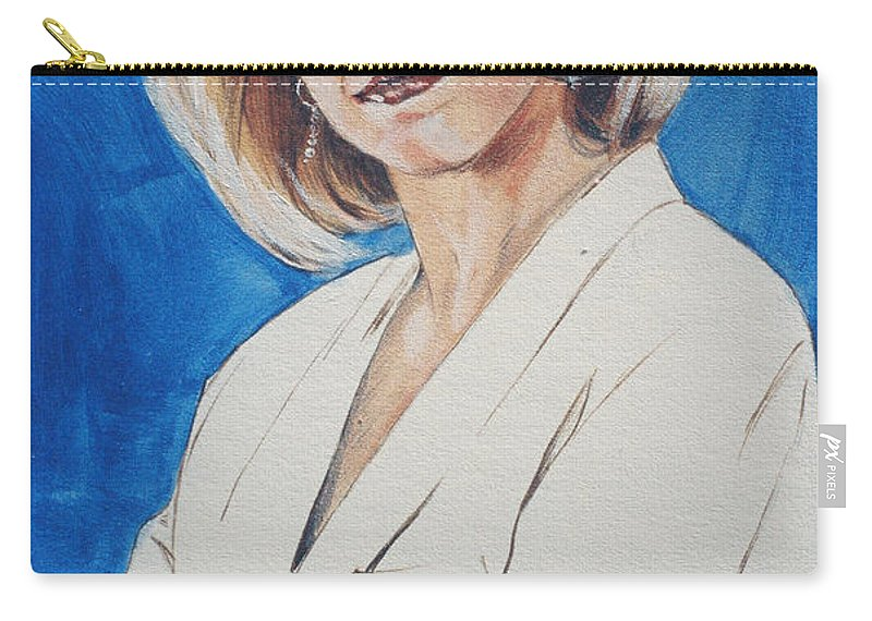 Cami Cooper Carry-all Pouch featuring the painting Cami Cooper by Bryan Bustard