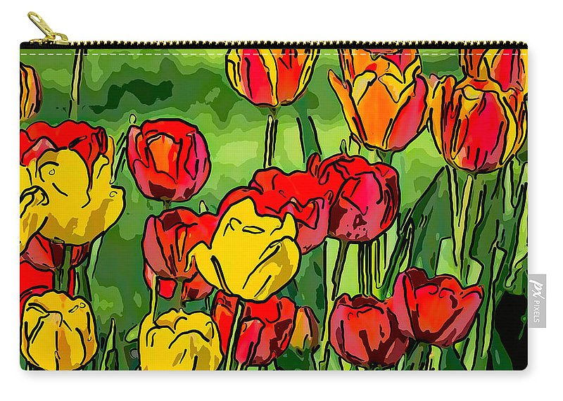 Steve Harrington Carry-all Pouch featuring the photograph Camille's Tulips by Steve Harrington