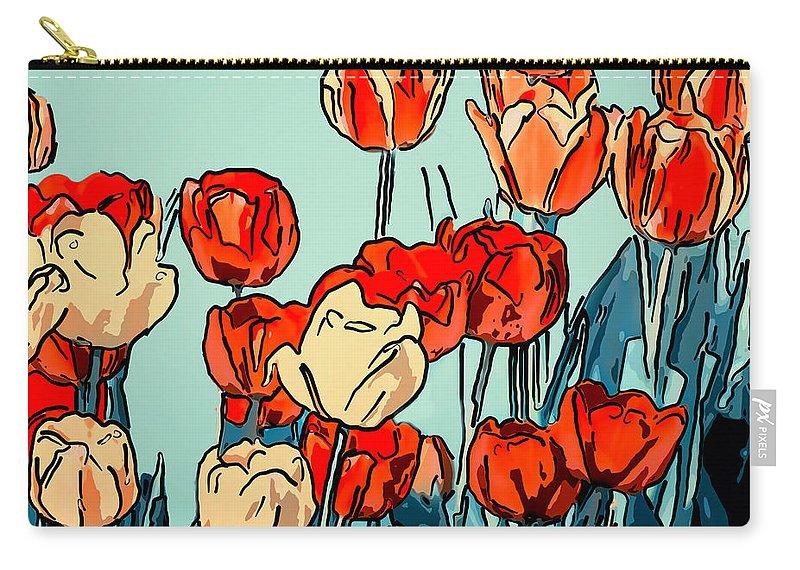 Steve Harrington Carry-all Pouch featuring the photograph Camille's Tulips - Version 3 by Steve Harrington
