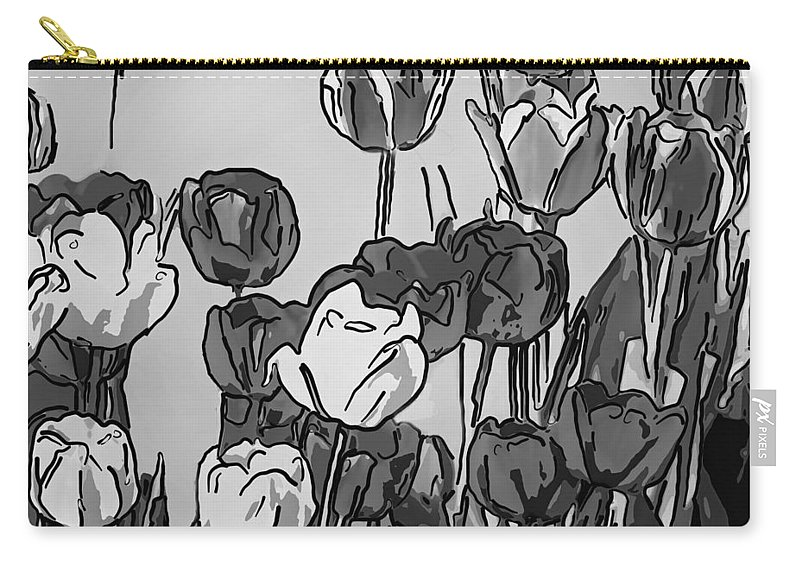 Steve Harrington Carry-all Pouch featuring the photograph Camille's Tulips - Version 4 by Steve Harrington