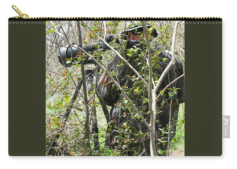 Photographer Carry-all Pouch featuring the photograph Camouflage by Ann Horn