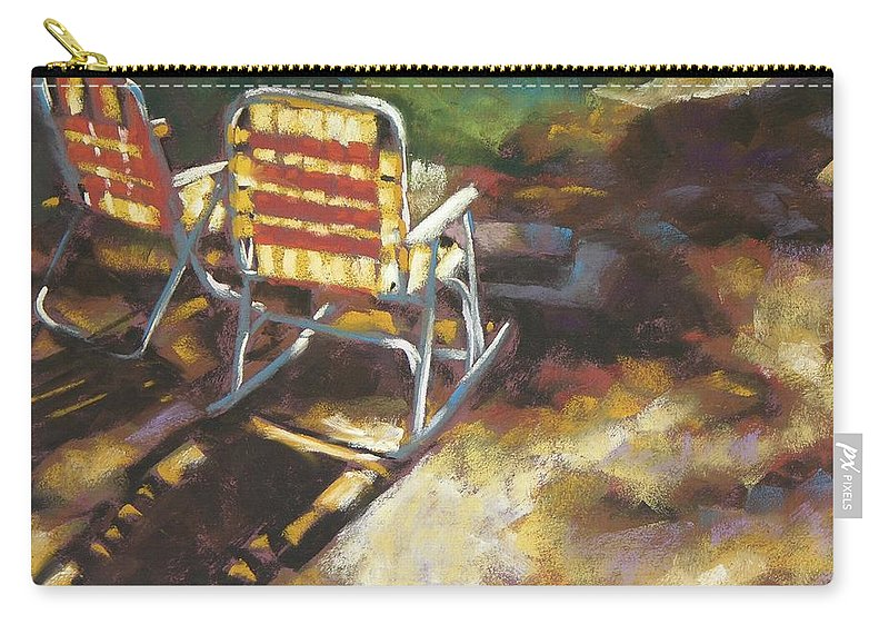 Camping Carry-all Pouch featuring the painting Camp Rocker by Mary McInnis