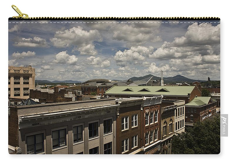 Cityscape Carry-all Pouch featuring the photograph Campbell Avenue Rooftops Roanoke Virginia by Teresa Mucha
